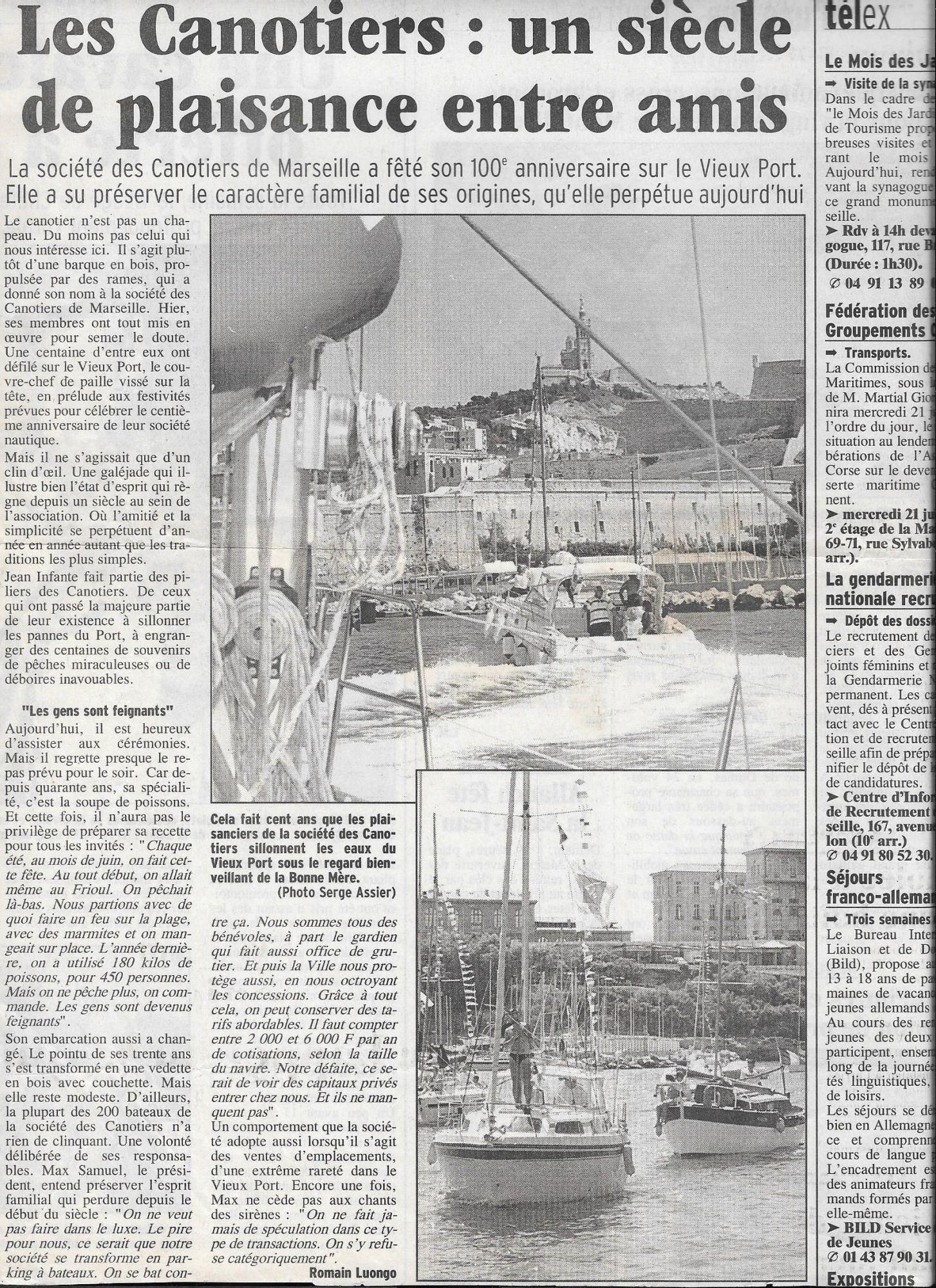 2000-06-19-la-provence-centenaire-canotiers-marseillais