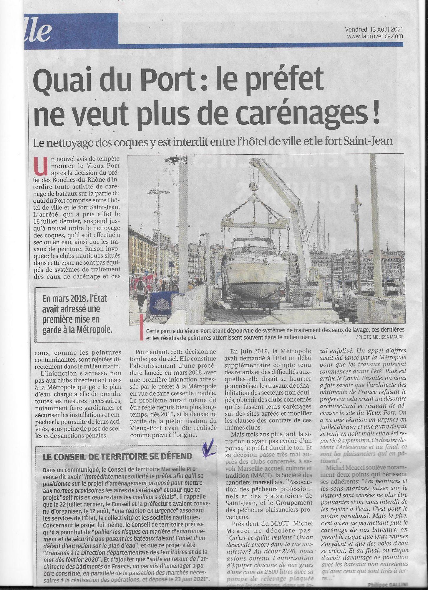 2021 08 Article Provence Carénage
